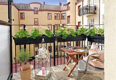 Balkon dekorasyonu for Decoracion de terrazas de departamentos