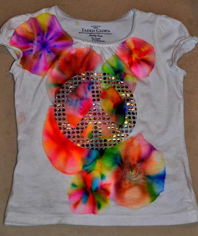 Красим футболку 2