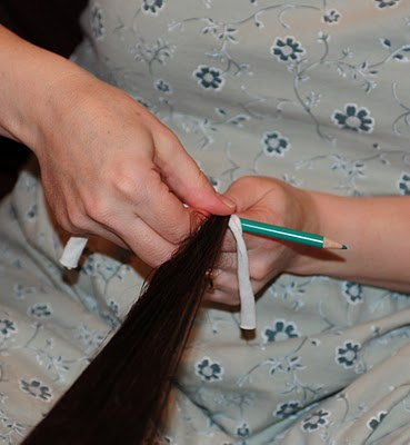 kalemle kıvırcık saç yapma3