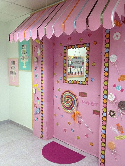 Candyland Christmas Door Decoration Ideas : Ana s n f kre ve okul ?ncesi flar i?in kap