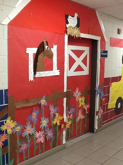 Western Classroom Decor ~ Ana sınıfı kreş ve okul öncesi sınıflar için kapı
